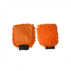 Gant de lavage micro-fibre 2 en 1 orange